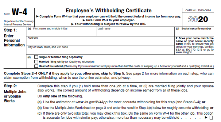 w4 withholdings